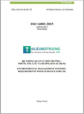 Tài liệu song ngữ: Hệ thống quản lý Môi trường ISO 14001:2015