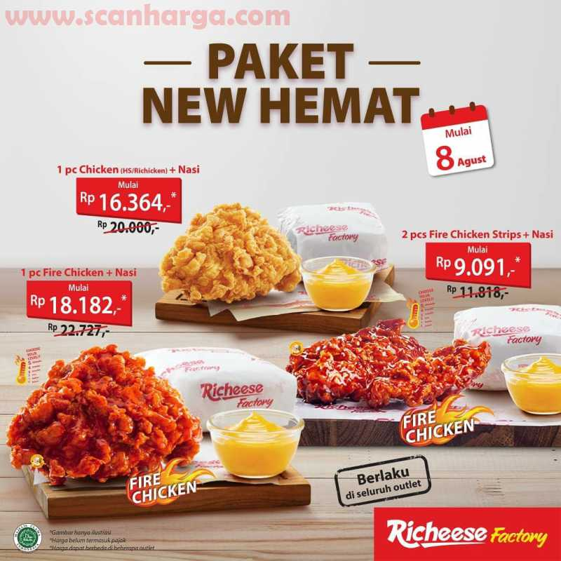 Richeese Factory Paket New Hemat Promo Special Agustus 2020