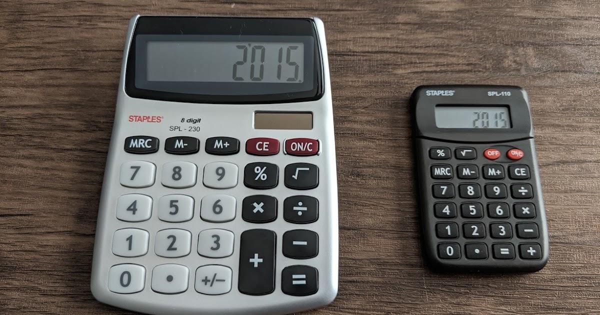 Education & Crafts Staples SPL-230 8-Digit Display Calculator ...