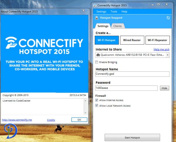 Connectify hotspot windows 7 32 bit