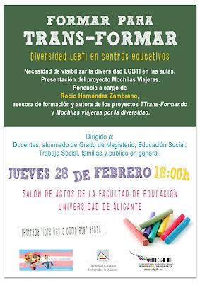Cartel de la presentación del proyecto Mochilas Viajeras