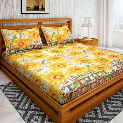 Rs,369/- Bombay Linen 104 TC Cotton Double Floral Bedsheet  (Pack of 1, Multicolor)