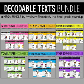 Click here to view the bundle of first grade decodable texts.