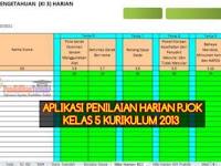 Format dan Aplikasi Penilaian Harian PJOK K13 Kelas 5 SD/MI Semester 1