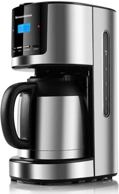 Bonsenkitchen Programmable Thermal Coffee Machine