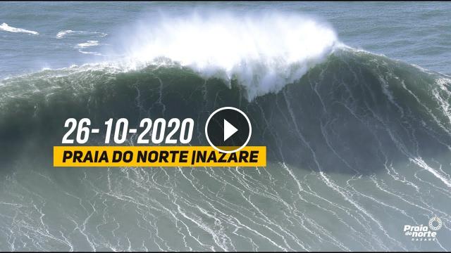 Praia do Norte Nazaré - 26-10-2020
