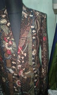 Lengan jas batik