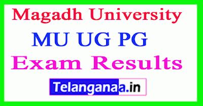 Magadh University Results  MU UG PG Results