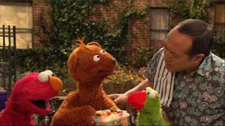 Baby Bear, parrot Ralphie, Elmo, Alan, Sesame Street Episode 4401 Telly gets Jealous season 44