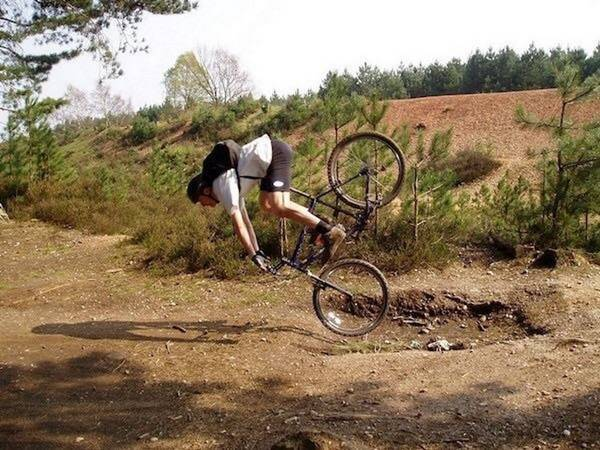 Riding a bike is easy, they said ...