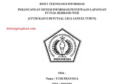 Perancangan Sistem Informasi Penyewaan Lapangan Futsal Berbasis Web