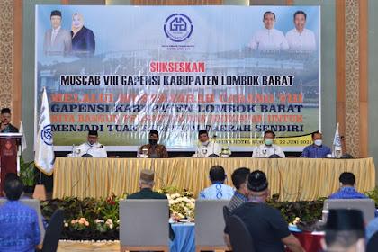 Bupati Fauzan Buka Muscab ke-8 Gapensi Lombok Barat
