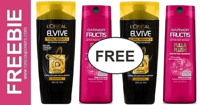 FREE L'Oreal & Garnier Shampoo CVS Deals 1-31-2-6