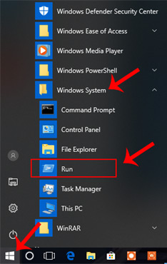 different ways to open run command box in windows 10 in hindi
