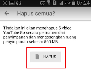 Cara Menghapus Video Di Aplikasi Youtube Go