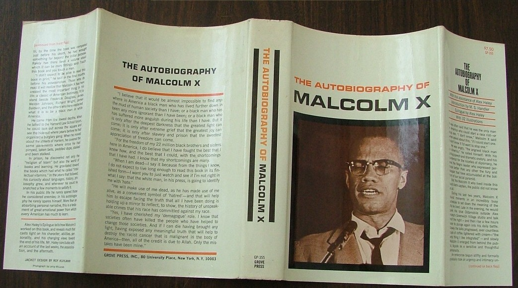 first edition dust cover thecopia beyondthebook the   thecopia beyondthebook the autobiography of malcolm x as told to alex haley alex haley