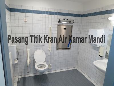 Cara pemasangan titik kran air kamar mandi