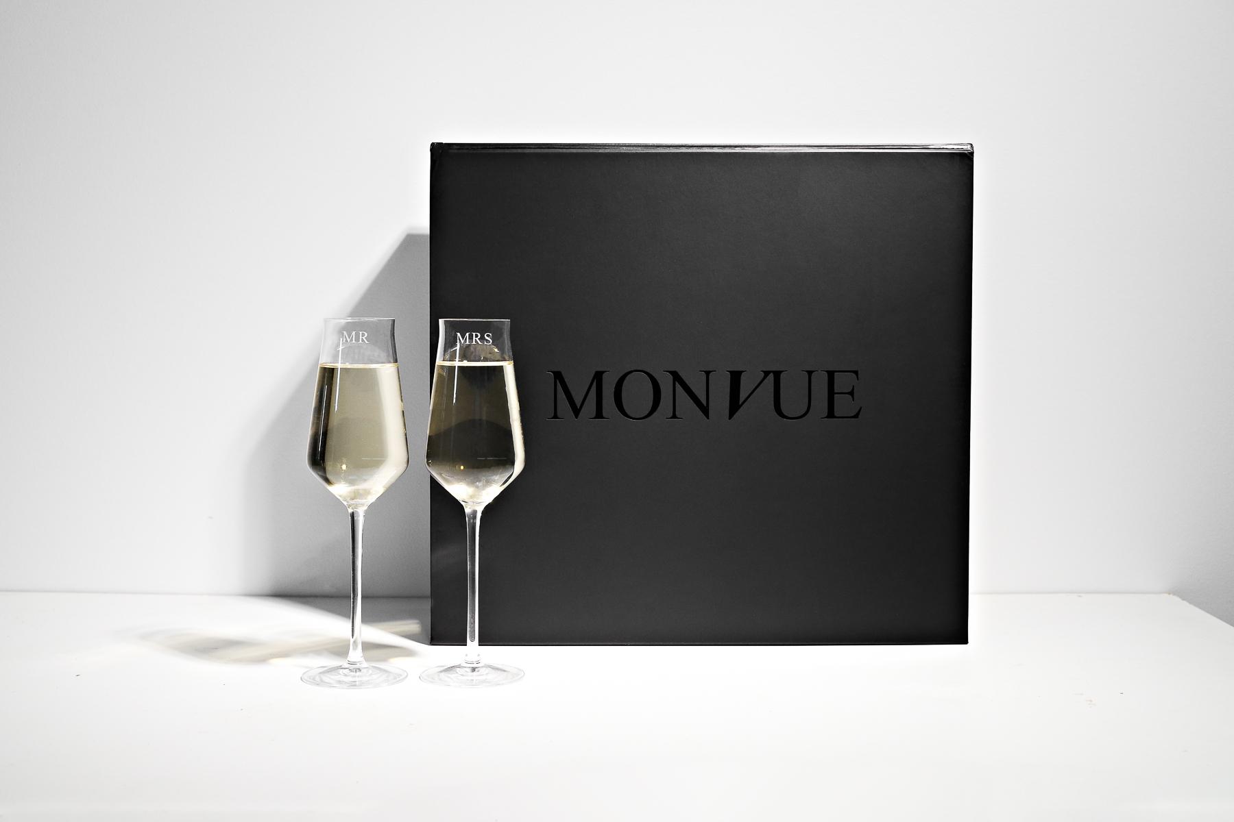 personalised monogrammed crystal glassware bridal gifts groomsmen presents