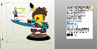 Pikachu Tanjiro Pokemon + Demon Slayer ( Kimetsu no Yaiba) em papercraft, pokemon, papercraft,