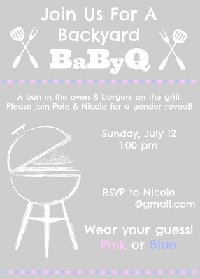 Gender Reveal invitation for Backyard BaByQ!!!