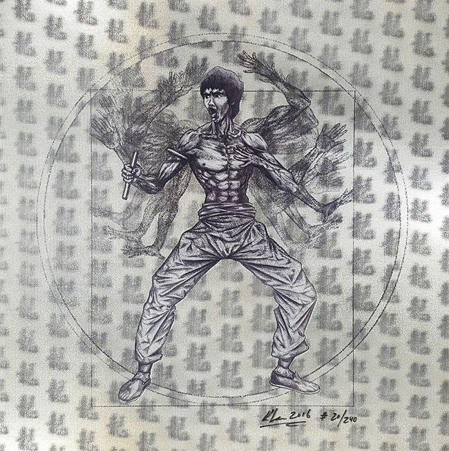 Keng Lau aka Qbism (China/US) - Bruce Lee art collection @ YellowMenace