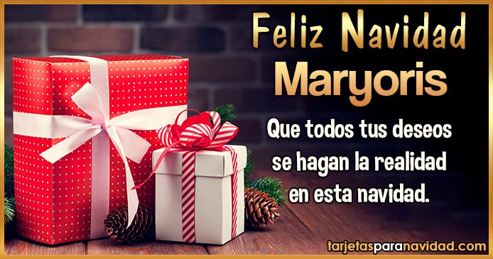 Feliz Navidad Maryoris