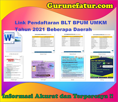 Link Pendaftaran BPUM Tahun 2021 Beberapa Daerah