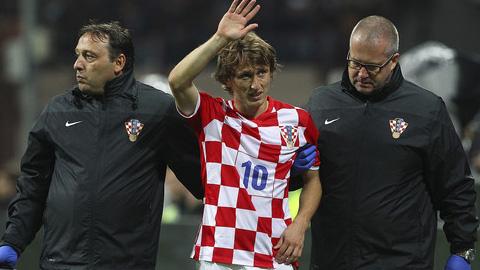 Luka Modric chấn thương, nghỉ thi đấu 3 tháng