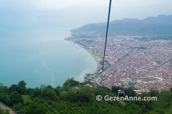 Boztepe'den Ordu ve Karadeniz manzarası