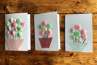 Handmade cards using Gel-a-Peel