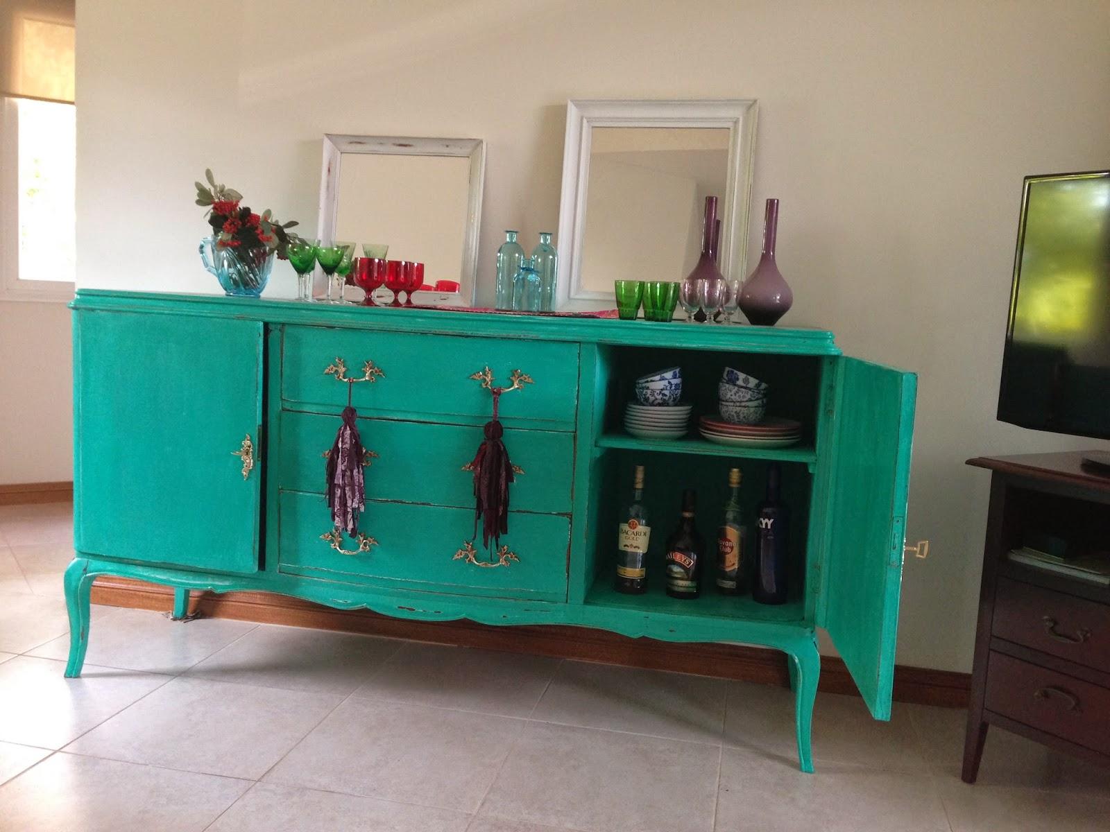 Muebles Restaurados Y Pintados Awesome Cheap Restaurados Pintados  # Muebles Turquesa