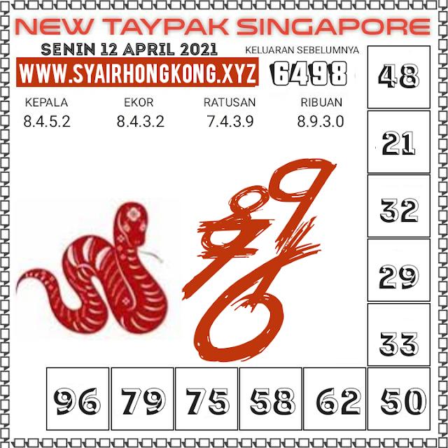 Syair SGP taypak 12 April 2021