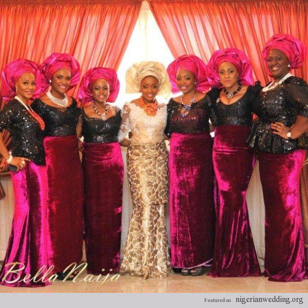 Nigerian Wedding Styles: African Pearl Bridal: The New Wedding Fabrics Mix