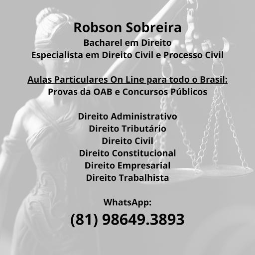 Robson Sobreira - Bacharel em Direito