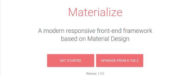 Materialize CSS - Framework CSS Terbaik di Tahun 2021