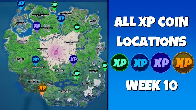 All 68 XP Coins Locations in Fortnite Chapter 2 Season 5 (Green, Blue, Purple, and Gold) (Week 1-7)