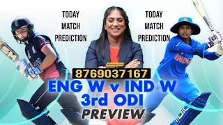 ENGW vs INDW 3rd India Women tour of England ODI Match 100% Sure Match Prediction