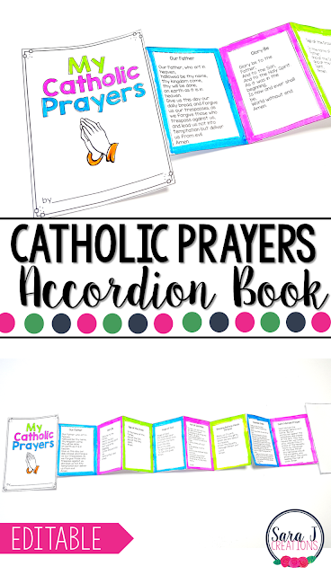 This Catholic Prayers mini book is perfect for students who are learning to memorize and read the prayers. Great reference tool! Includes 11 prayers plus an editable pdf to add your own prayers.