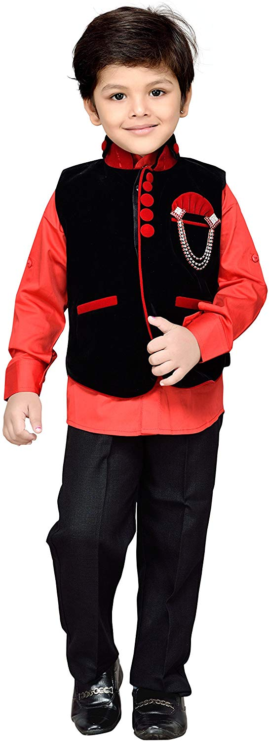 AJ DEZINES Boy's Regular Fit Suit