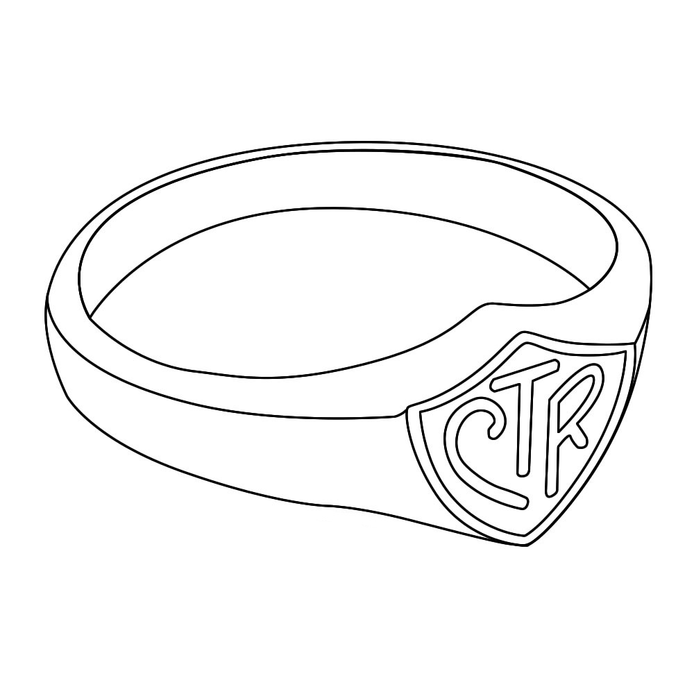 unique ctr ring coloring page
