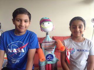Artash (12-years-old) and Arushi (9-years-old), are a brother-sister programing team from Canada