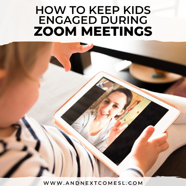 Tips and suggestions for how to keep kids focused and engaged during Zoom meetings and one-to-one online teaching or teletherapy sessions