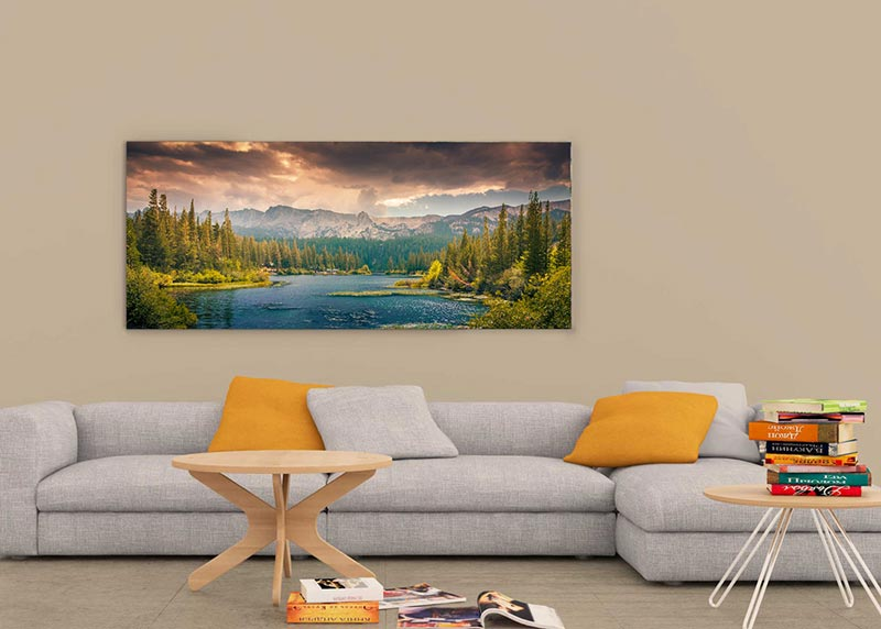 Wide Art Wall Frame Mockup