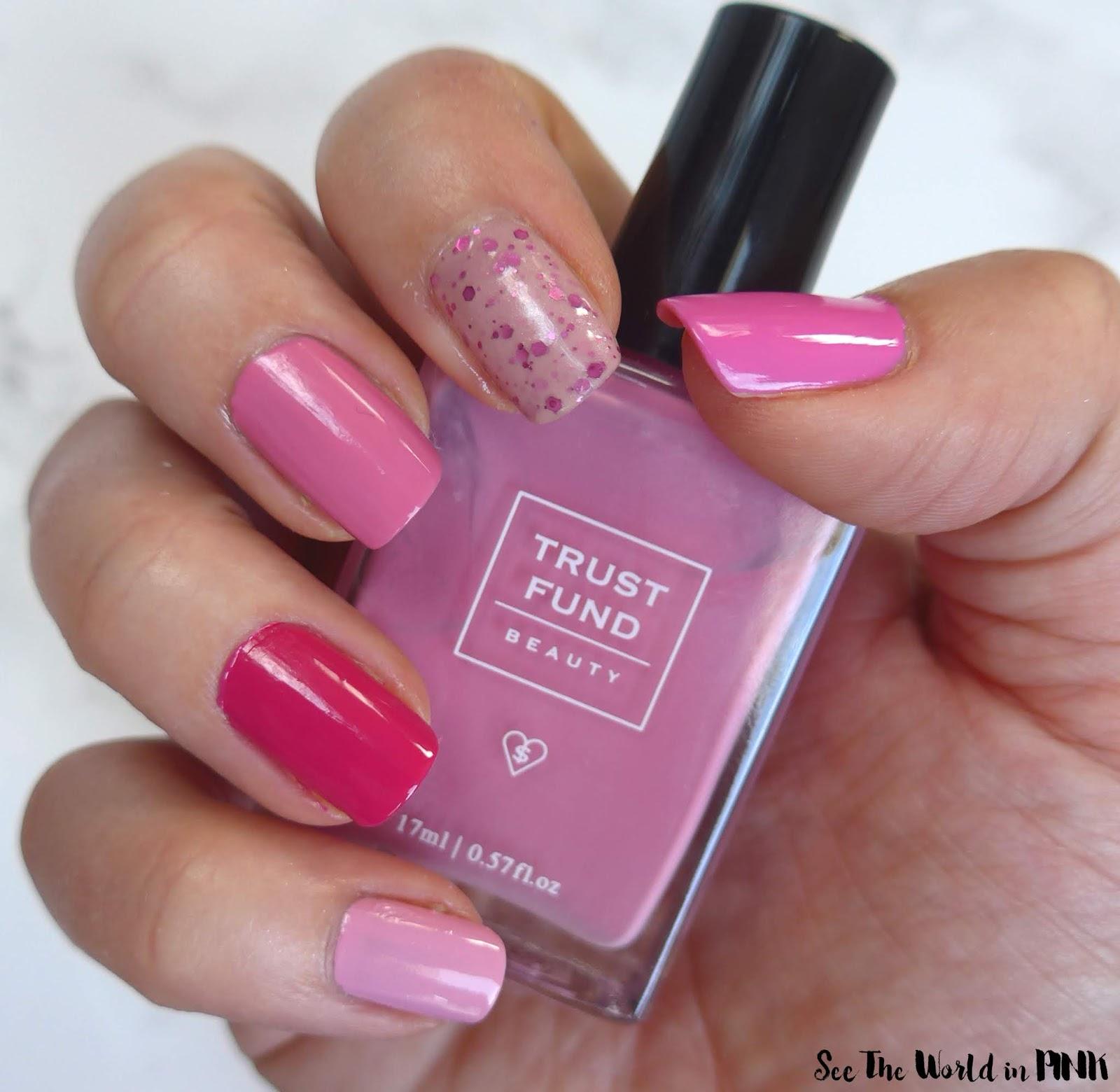 Manicure Monday - Multicolour Pink Nails!
