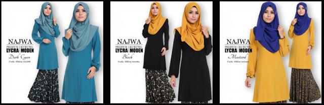 Beli Online 20 Corak Terbaru Kurung Najwa Dari Sweet Muslimah