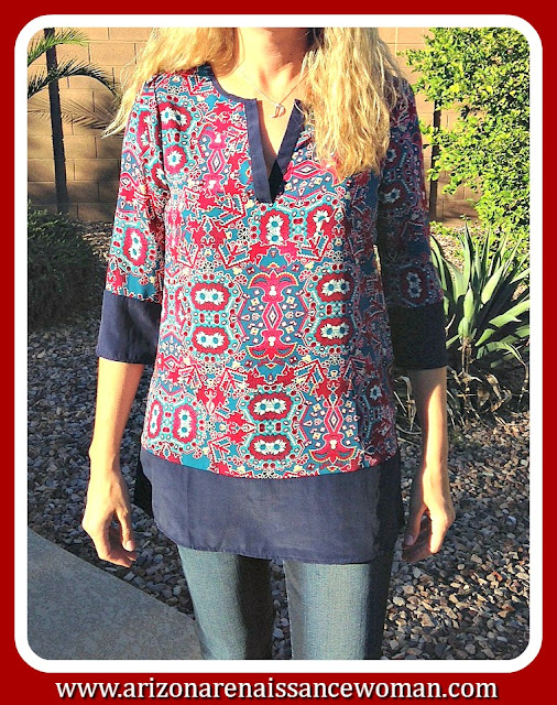 Peach Love Printed Tunic - October 2015 Golden Tote Review
