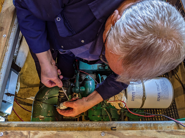 Photo of Phil removing one of the fuses from the heater to check it