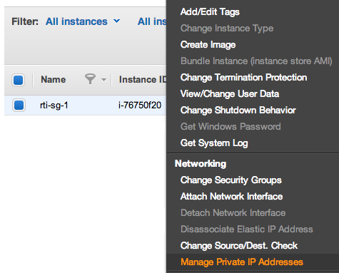 Add Multiple private IP addresses to AWS EC2 instance
