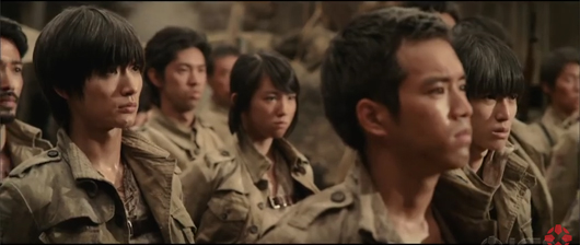 Captura del trailer de Attack on Titan