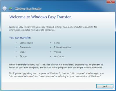 Windows Easy Tansfer